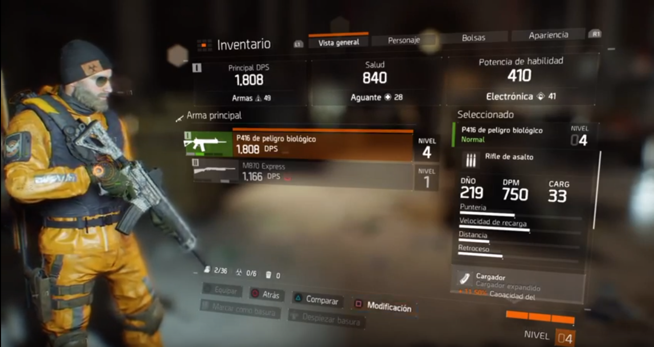 The Division: Primer Gameplay del tutorial.