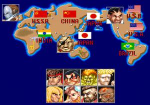 Street Fighter II - luchadores